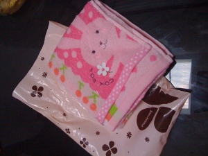 tadaaaa. cute towel. thanks Satoe, Marina, and Saki :)