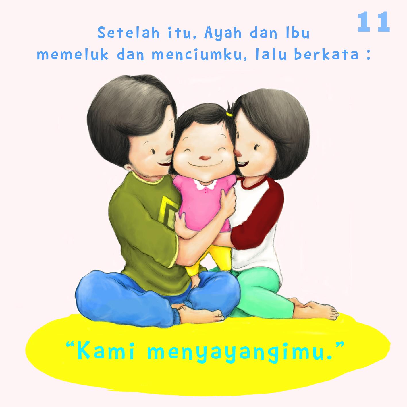 Kumpulan Foto Kartun Ayah Ibu Dan Anak